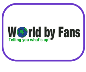 Logo for a magazine Web Portal www.worldbyfans.com