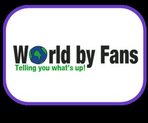 Logo for a magazine Web Portal www.worldbyfans.com
